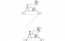 Whitetail Wall Mount Paper Towel Holder