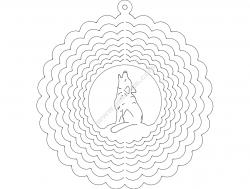 Wind spinner wolf