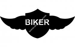 Winged shield biker