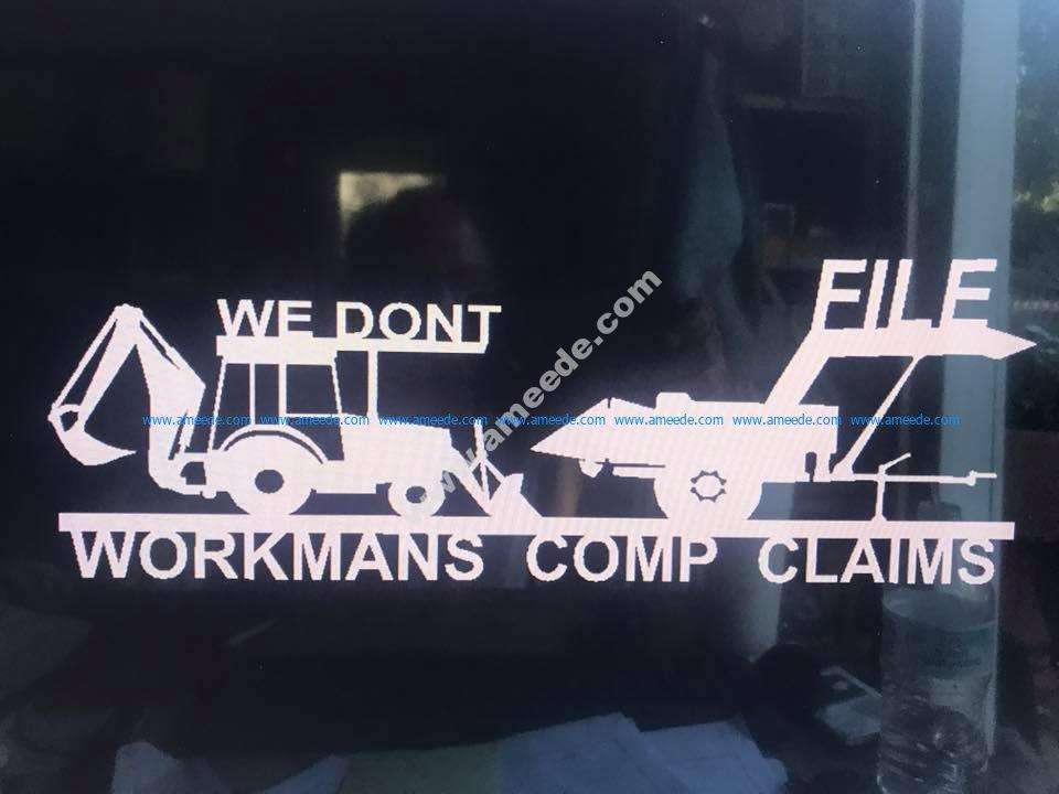 Workmans Comp 29 X 11