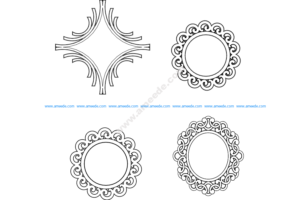 Multiple Mirror Frame Designs