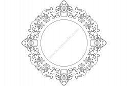 Ayna Mirror Frame Round