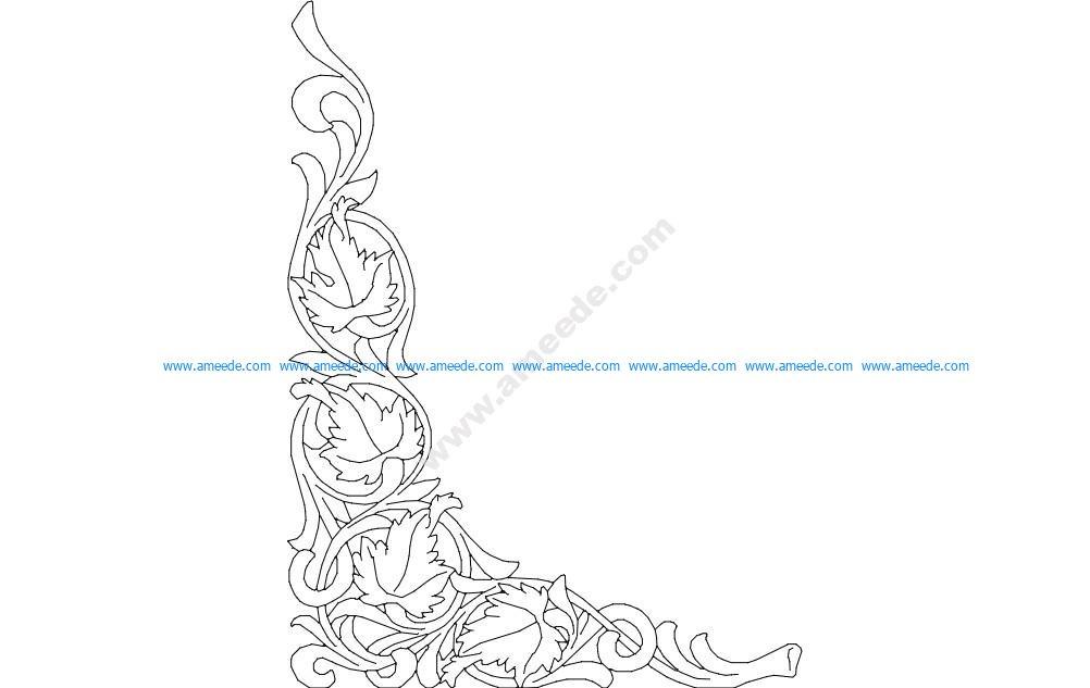 Corner Oak Scroll