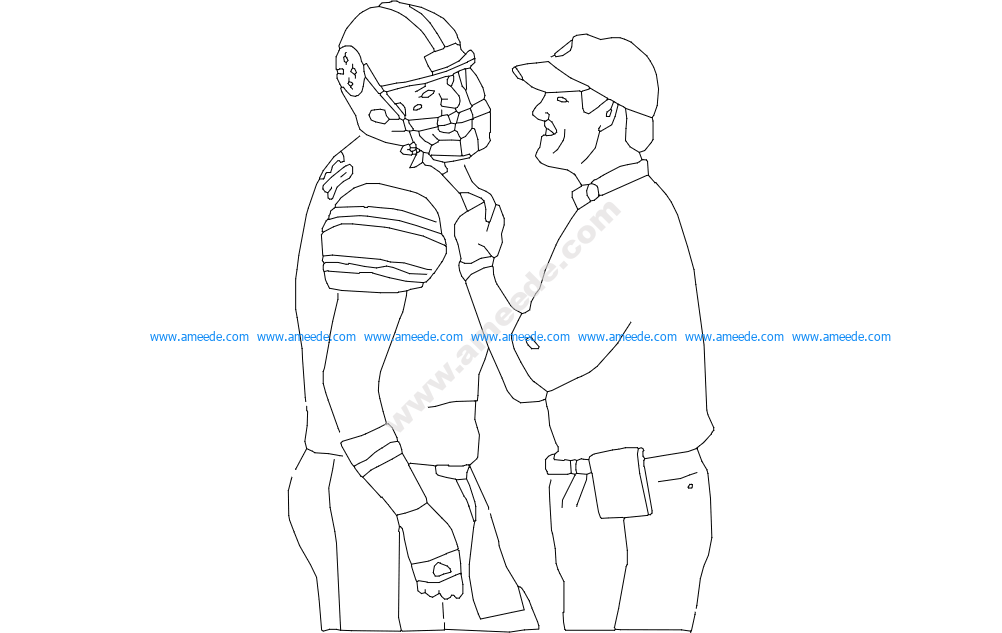 Cowher And Ben Lineart