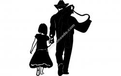 Cow boy daughter