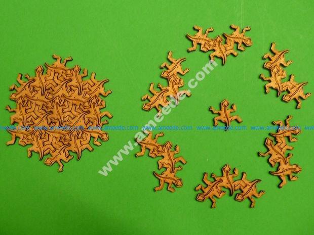 Tessellation Gecko Puzzle
