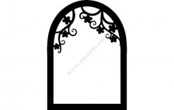 Flower window silhouettte