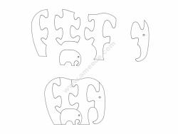 słoń (Elephant Jigsaw Puzzles)