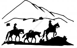 western 3 Horses 2 Riders