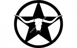 western longhorn star wall art