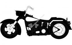 Big motorcycle 1216 hrly (harley davidson)