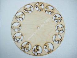 12 Horses Clock