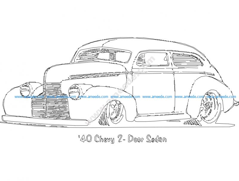 1940 Chevy 2 Door Sedan