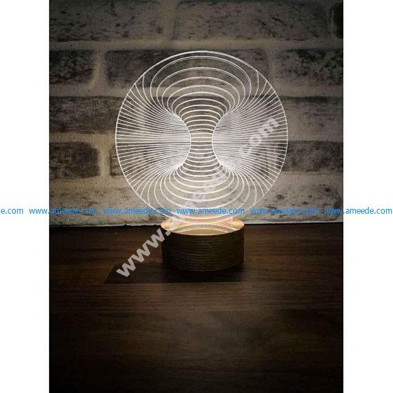 3D Illusion LED Lamp
