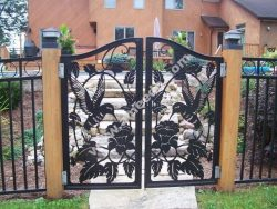 A wonderfully detailed iron gate