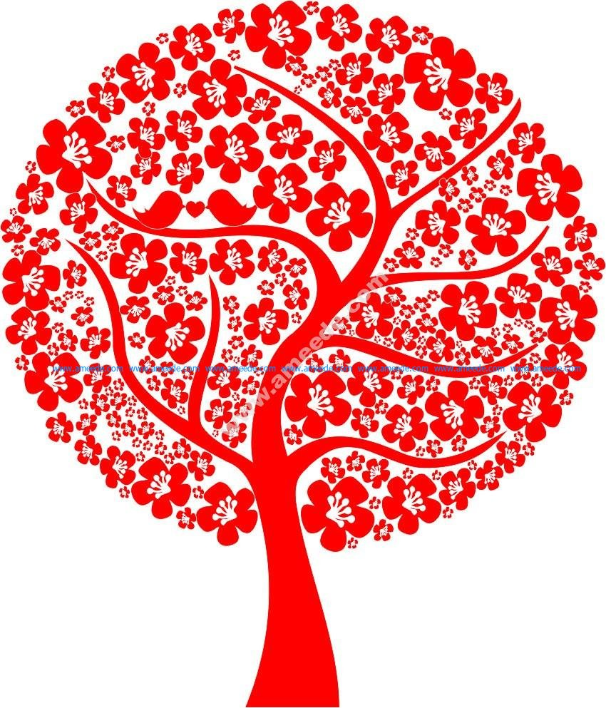 Abstract Love Tree Vector
