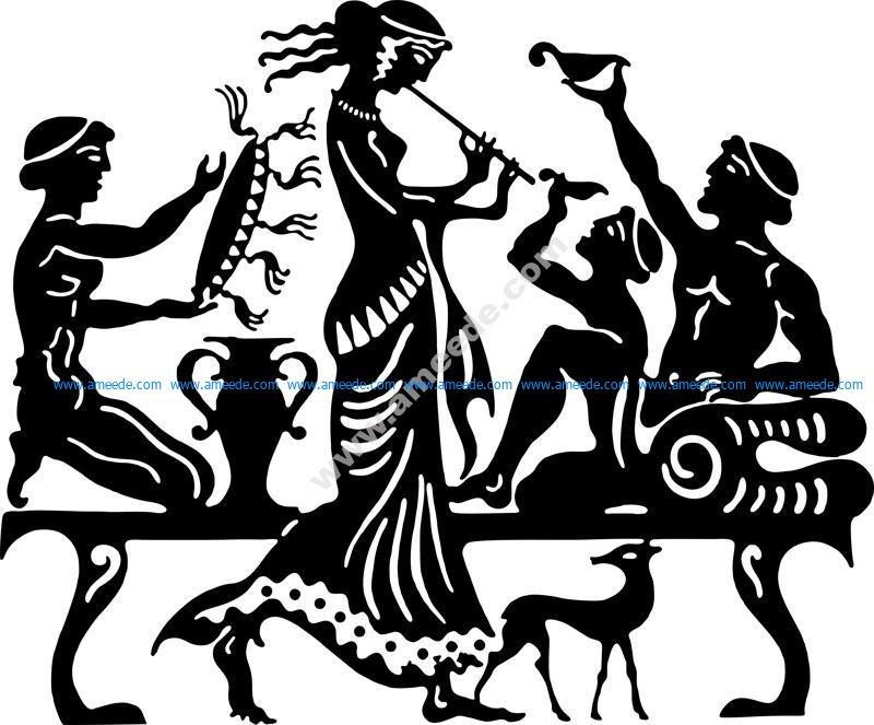 Ancient Greek Vector Art