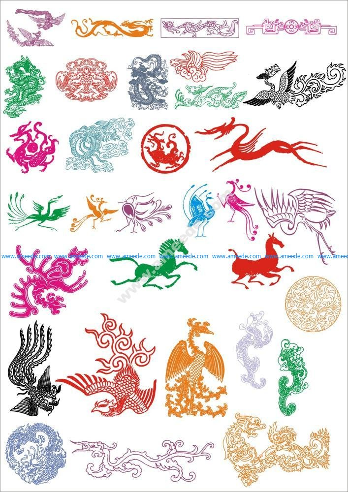 Ancient Pattern Vector Set