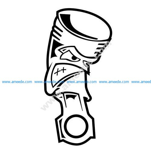 Angry Piston JDM Car Vinyl Sticker Decal