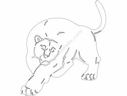 Animal Mascot Big Cat