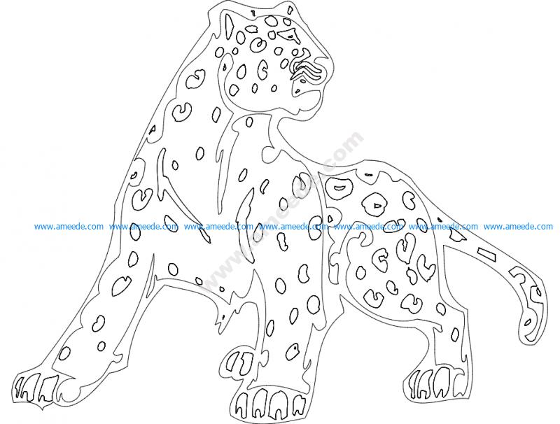 Animal Mascot Cheetah
