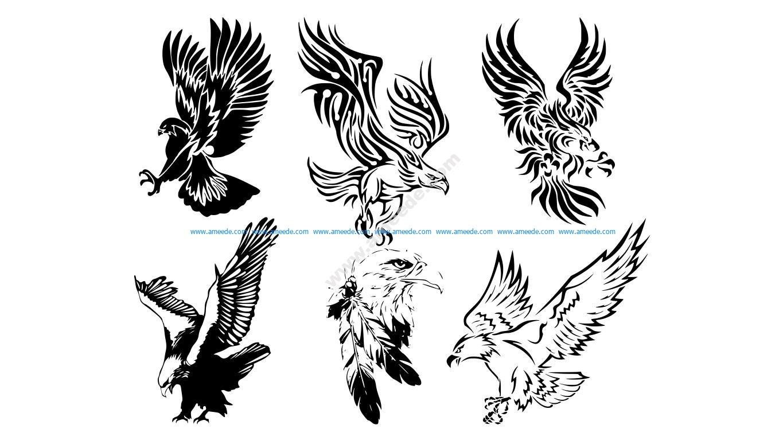 Awesome Tribal Eagle Tattoos