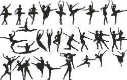 Ballet Dancer Silhouette Vector Set