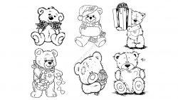 Bears Line Art Vectors