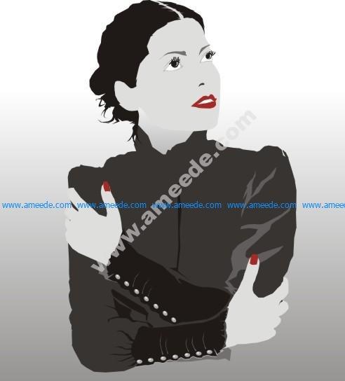 Beautiful Illustration Of Women Vector Art