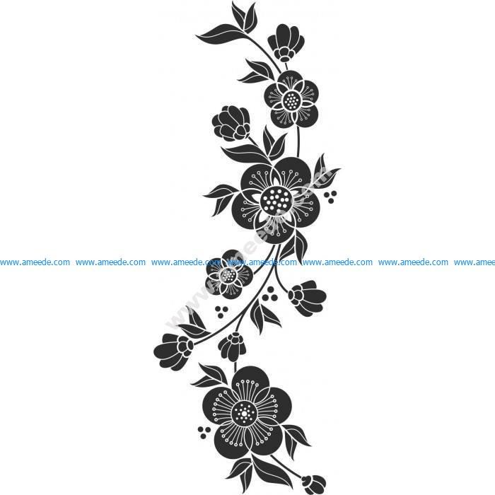 Beautiful floral element Vector Art jpg