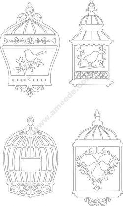 Bird Cage Vectors