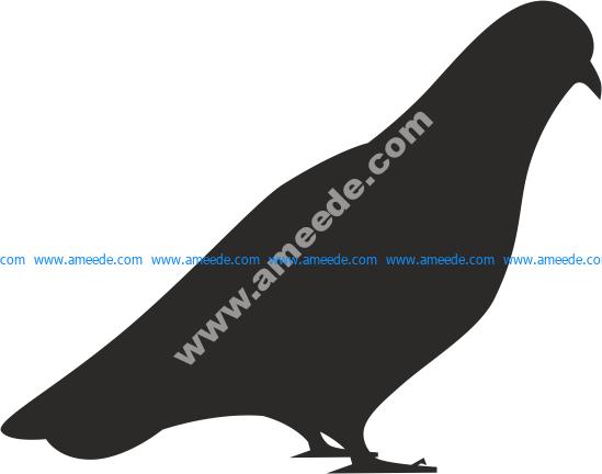 Bird Dove Silhouette Vector
