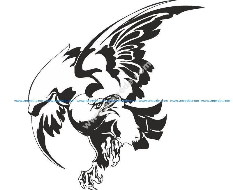 Bird Hawk Vulture Wall Sticker
