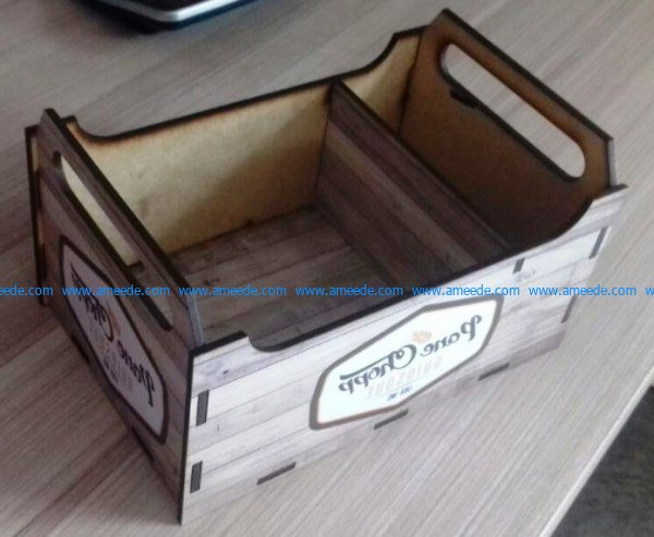 Box beer file cdr and dxf free vector download for Laser cut CNC