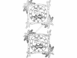 Branch Frame Clock 9B