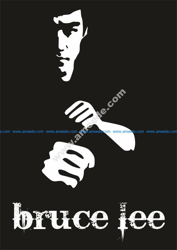 Bruce Lee Poster Vector