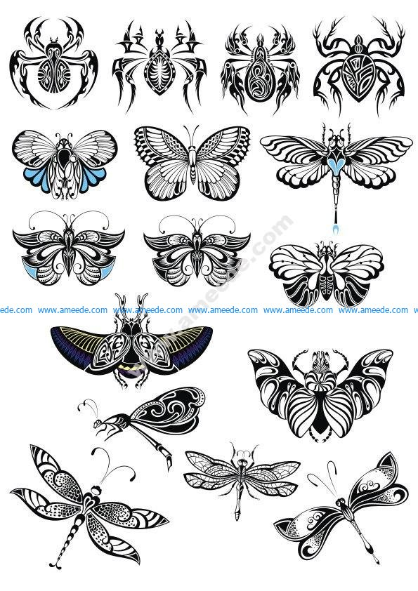 Butterfly Collection Vector Set