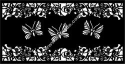 Butterfly Flower Screen Room Divider