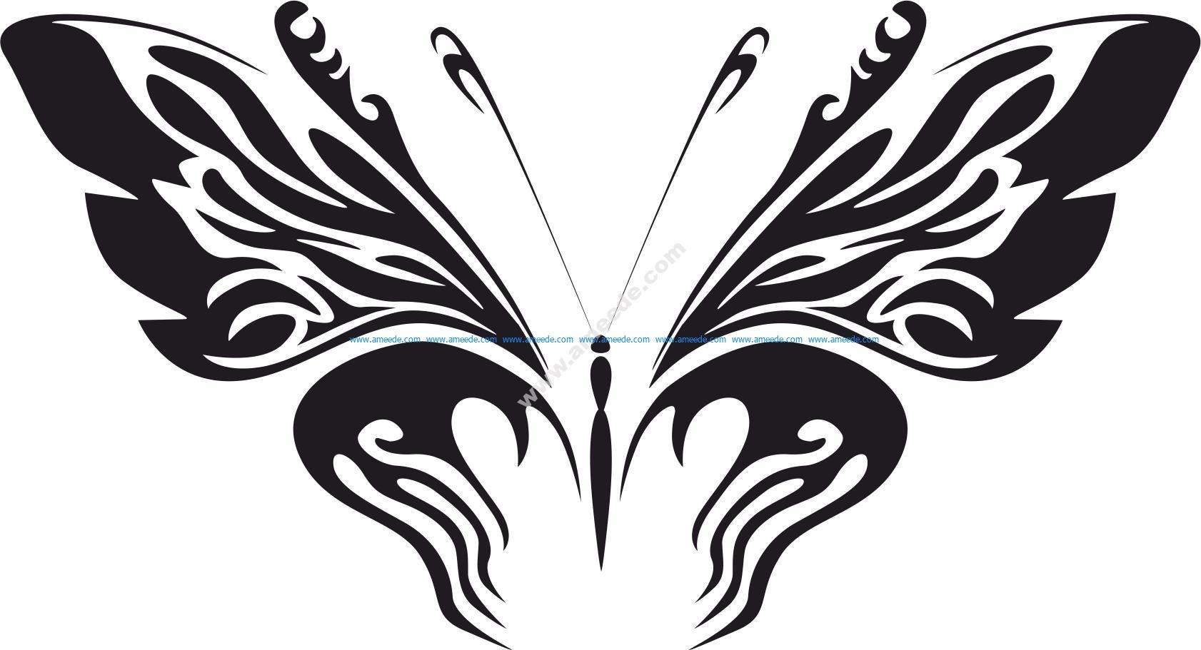 Butterfly Sticker Vector