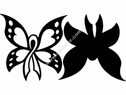 Cancer Butterfly 2pc 12×12