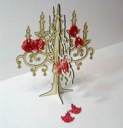 Candlestick Jewelry Hanger Laser Cut