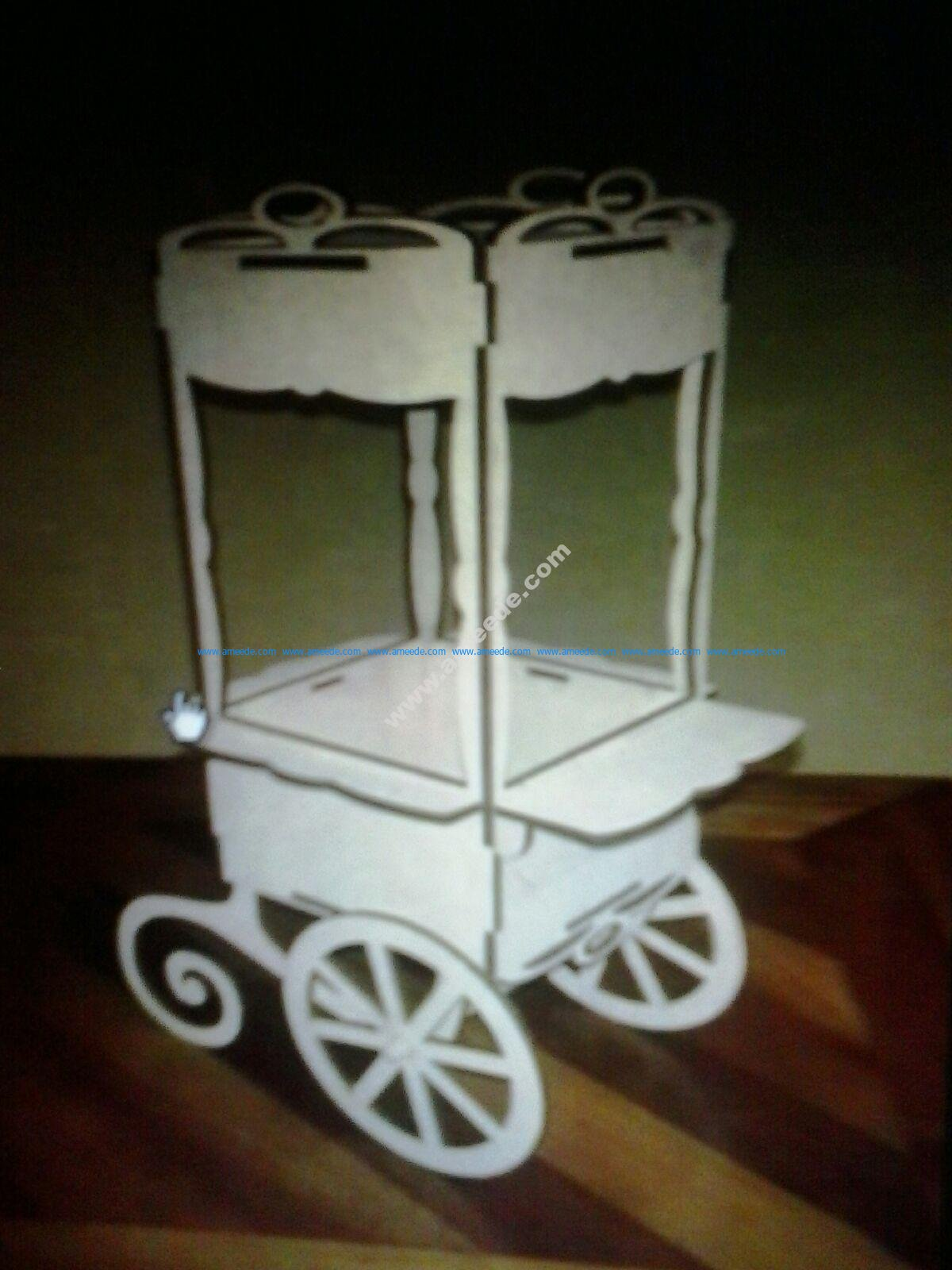 Candy Bar Cart CNC Plans