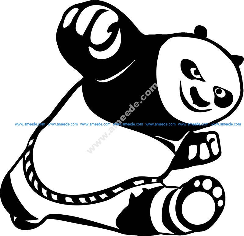 Car Stickers Cute Kung Fu Panda