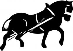 Cart Horse Vector Silhouette