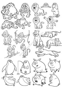 Cartoon Animals Vector Art