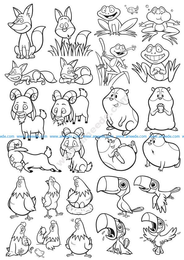 Cartoon Animals Vector Pack