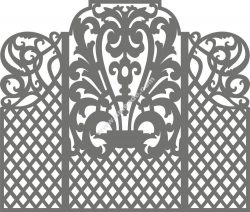 Carved Wedding Screen Vector