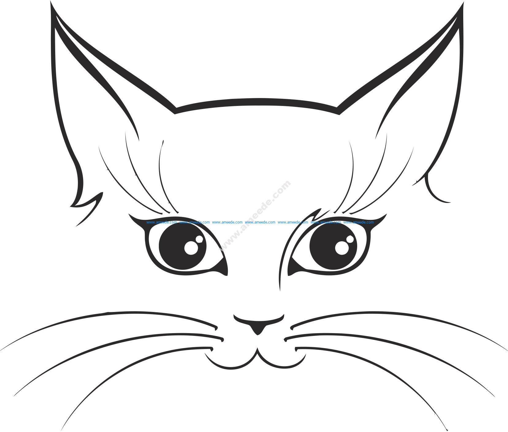 Cat Sticker Vector
