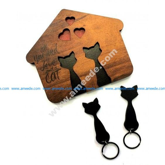 Cat shaped key holder