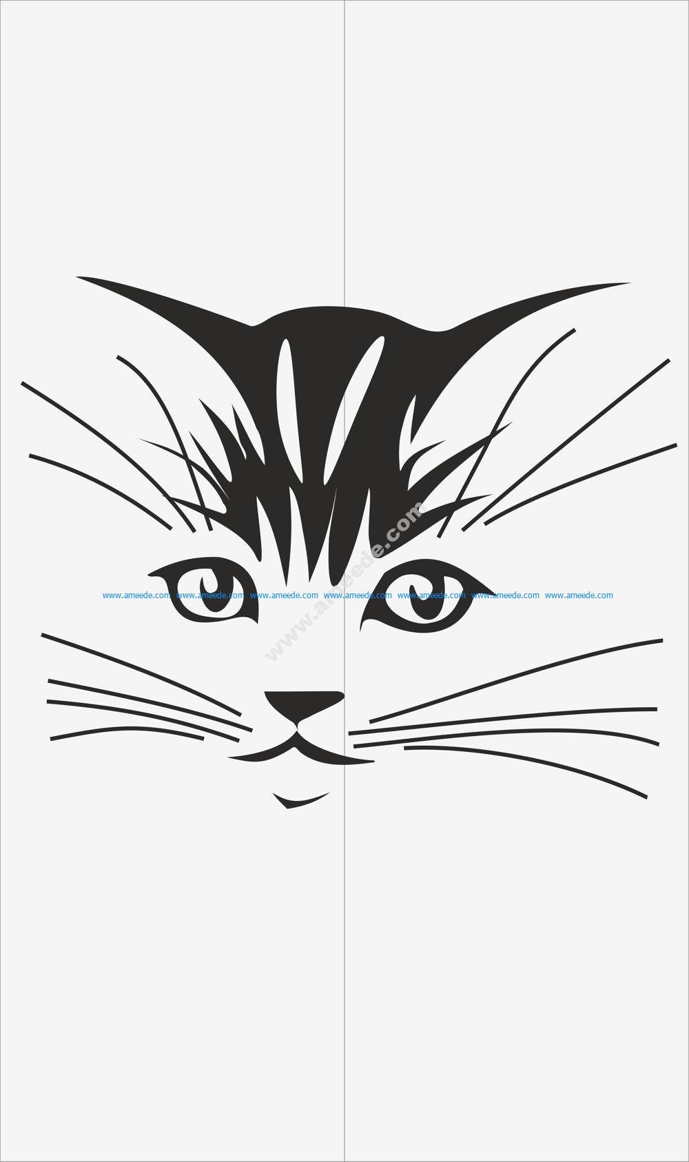 Cats Decal for Glass Vector